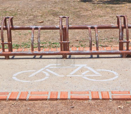 A sign of bicycle path