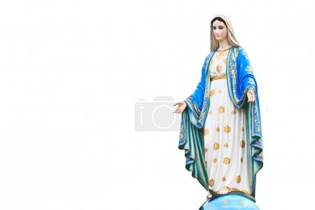 Virgin Mary Statue in Roman Catholic Church