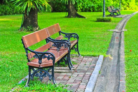 Photo for Relax chair in Park Chair - Royalty Free Image