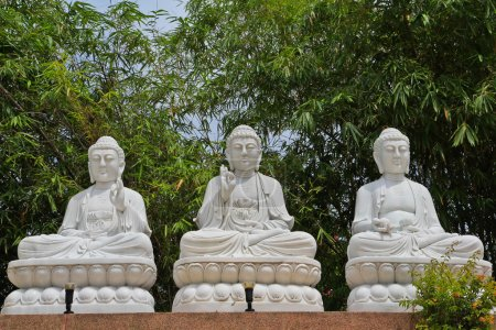 Photo pour Monument de Bouddha blanc - image libre de droit