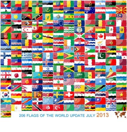 Photo pour Drapeaux du monde - image libre de droit