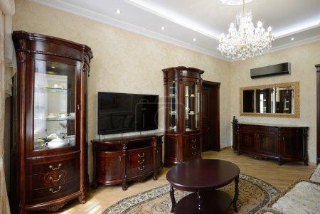Photo pour Intérieur d'une salle de séjour de luxe. Design exclusif - image libre de droit