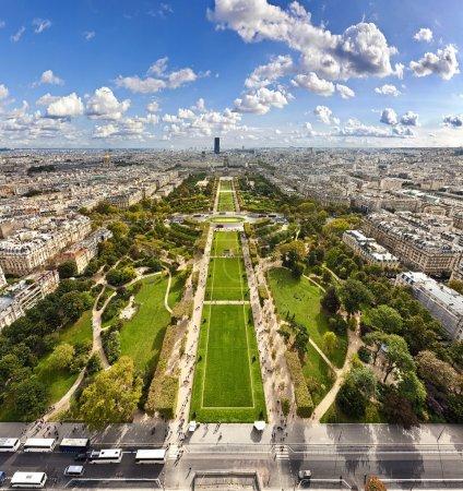 Aerial View on Champ de Mars, Paris