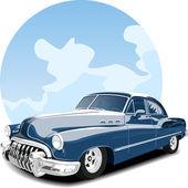Cabriolet car antique blue sky background