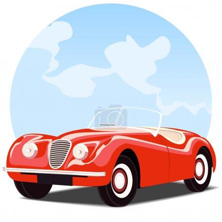 Antique convertible car