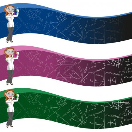 Women and science background,