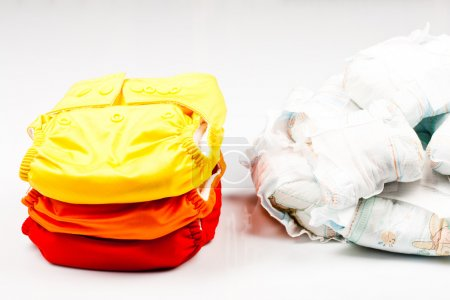 Eco friendly diapers and dirty pampers