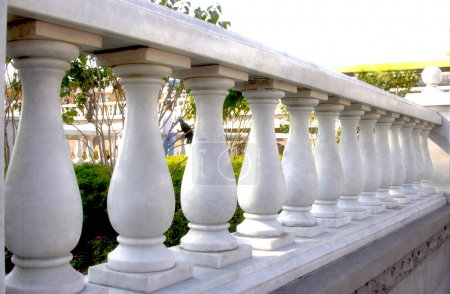 Close Up of Stone White Banister