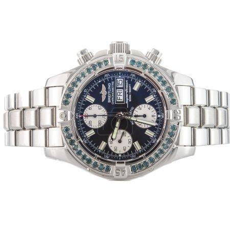 Mens luxury wrist watch on white