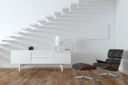 Minimalist Interior Room With Lounge Chair (Frame Version)