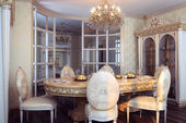 Royal furniture in luxury baroque interior