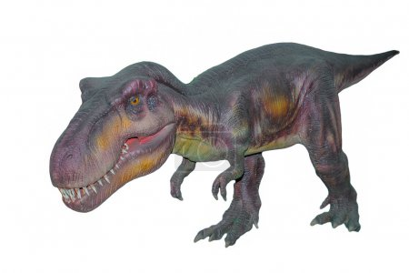 Scary isolated dino dinosaurs T rex