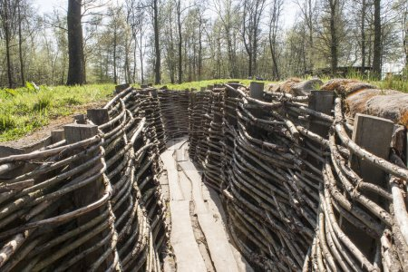 WW1 trench in Bayernwald world war one Belgium...
