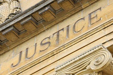 Photo pour Façade du Palais de Justice, Sarreguemines, Moselle, Lorraine, France - image libre de droit