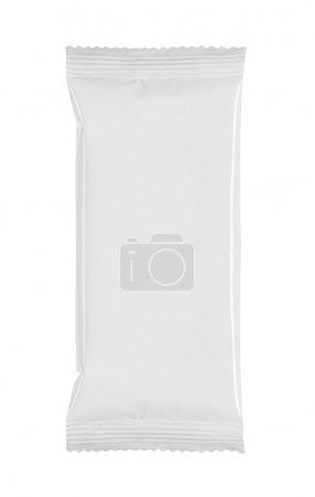Photo pour Emballage vide blanc sur blanc renseignements - image libre de droit