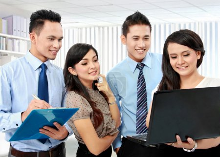 group of business meeting with laptop