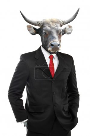 Metaphore of strong businessman concept