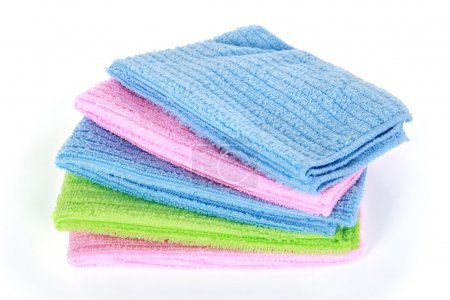 colorful microfiber cleaning towels