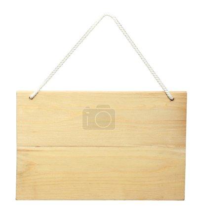 Photo pour Signe en bois d'une corde. isolé sur fond blanc - image libre de droit