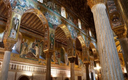 Internal view of the Palatine Chapel of Palermo in Sicily