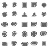 Label icons on white background