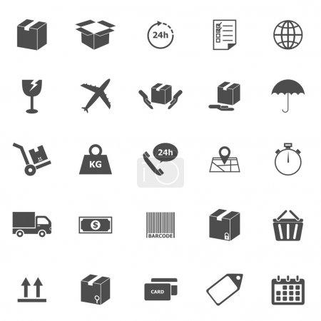 Shipping icons on white background