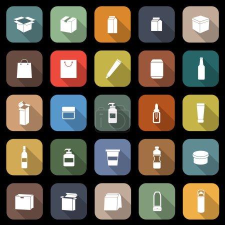 Illustration pour Emballage plats icônes à grandissime, vector stock - image libre de droit