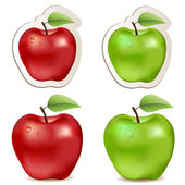 Big shiny red and green apples