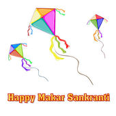 Illustration of Makar Sankranti wallpaper with colorful kite