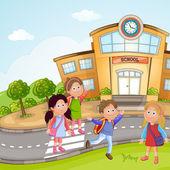 Iskolás gyermekek csoportja