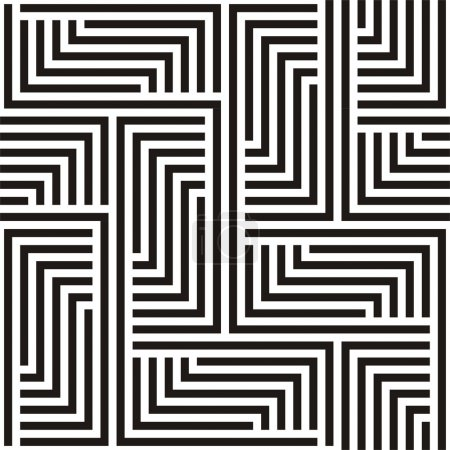 Illustration for Black and white zigzag pattern - Royalty Free Image