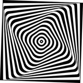 Optical illusion Black and white vector illustration