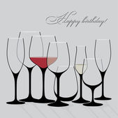 Background vector with wine glasses