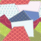 Seamless patchwork background pattern Will tile endlessly