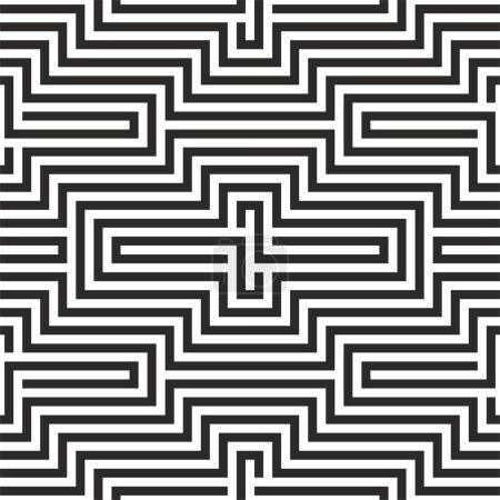 Illustration pour Modèle sans couture en zigzag noir et blanc - image libre de droit