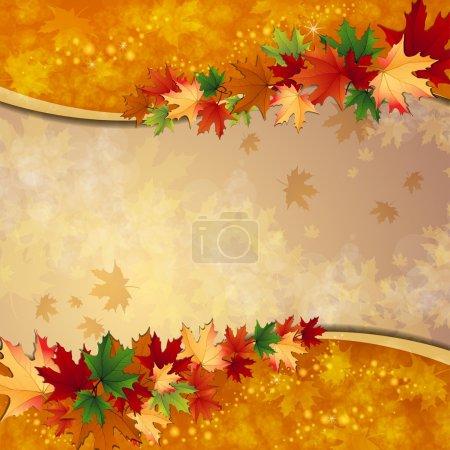 Illustration pour Fond d'automne avec des feuilles - image libre de droit