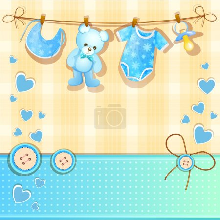Photo for Set of elements for a baby boys - Royalty Free Image