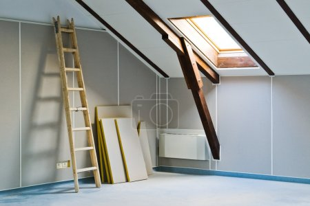 ladder and construction materials