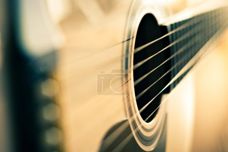 Photo for Detail of classic guitar with shallow depth of field - Royalty Free Image