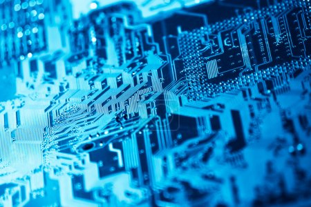 Photo for Computer circuit board with shallow depth of field - Royalty Free Image