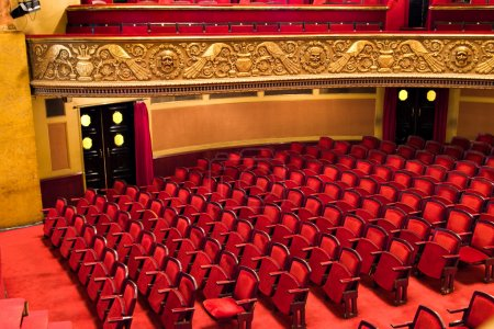 Photo for Chairs in classic theater performance hall - Royalty Free Image