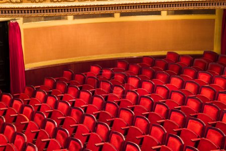 Photo for Red chairs in classic theater - Royalty Free Image