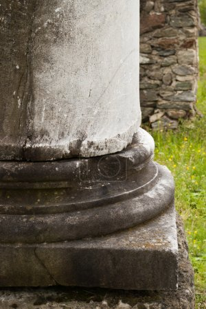 Photo for Detail of ancient column base - Royalty Free Image