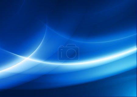 Foto de Fondo abstracto azul con curvas fluidas - Imagen libre de derechos