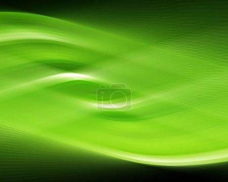 Photo pour Conception abstraite de tourbillon vert fond - image libre de droit