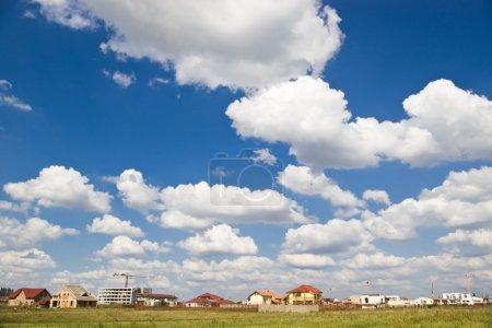 construction cloudy sky