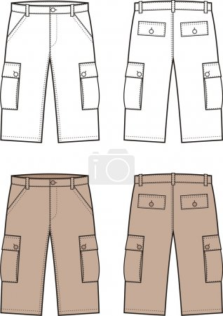 Vector illustration of men's sport shorts