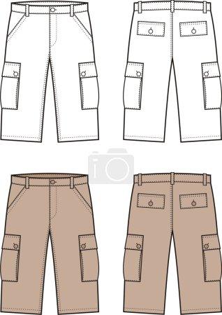 Vector illustration of men's sport shorts