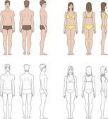 Vektorové ilustrace lidské postavy