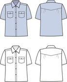 Vector illustration of men's shirt